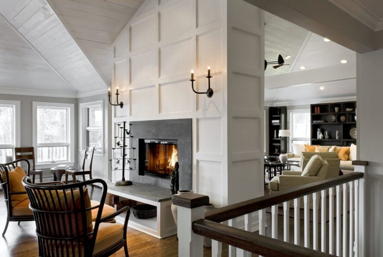 Fireplace Open to Kitchen
